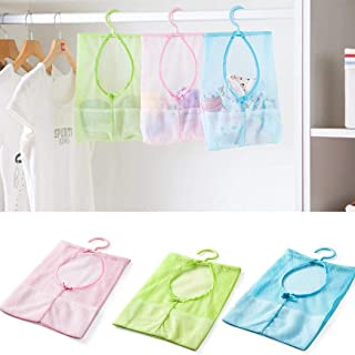 erholi Washable Vegetable Bags Kitchen Bathroom Storage Pouch Mesh Hanging Bag Packing Organizers