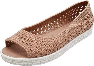DAIFINEY Dames mocassin slipper loafers uithollen espadrilles peep toe comfort schoenen sloffen slip-on modieuze vrijetijd...