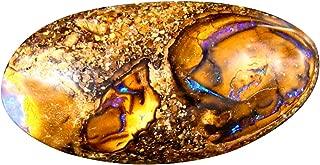 8.36 ct Fancy Cabochon Shape (18 x 10 mm) Play of Colors Australian Koroit Boulder Opal Natural Loose Gemstone