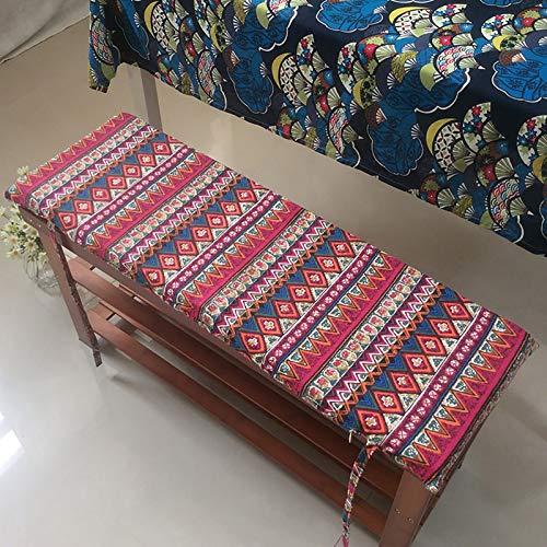 Warooma Gartenbankauflage 4cm Bankauflage Sitzkissen, Bank Polster Für Innen- Und Außenbereich Terrassenbank, Liege, Mit Befestigungsbänder