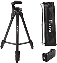 Syvo S-510 PRO (55-Inch) Aluminium Tripod, Universal Lightweight Tripod with Carry Bag for All Smart Phones, Gopro, Camera...