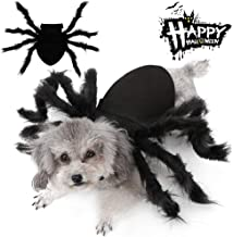 Malier Halloween Dogs Cats Costume Furry Giant Simulation Spider Pets Outfits Cosplay Dress up Costume Halloween Pets Accessories Decoration for Dogs Puppy Cats