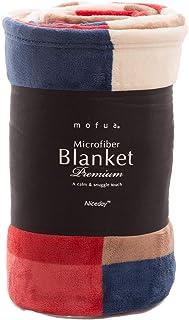 マイクロファイバー 毛布 【チェック/レッド】 シングル 幅140×200cm 静電気防止加工 フワッとやさしい肌触り ふんわり やわらか なめらか