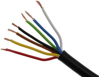 Cavo elettrico unipolare 1.5 mm/² Filo elettrico per auto moto autocarro 5m o 10m selezione: 5m metri 1.5 mm/² filo di rame, bianco