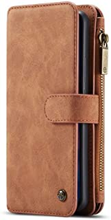 HUAWEI MATE 20 PRO Wallet Case with Detachable Slim TPU PC Case, Handmade,TRIFOLD Leather