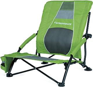 صندلی کم جاذبه ساحلی STRONGBACK کمپینگ قابل حمل و صندلی مسافرتی و اتاق نشیمن در فضای باز با پشتیبانی کمر داخلی