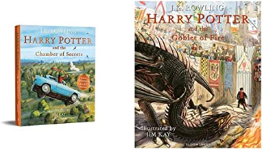 Harry Potter And The Chamber Of Secrets: Illustrated Edition ( Illustrated Edtn)+Harry Potter And The Goblet Of Fire: Illu...