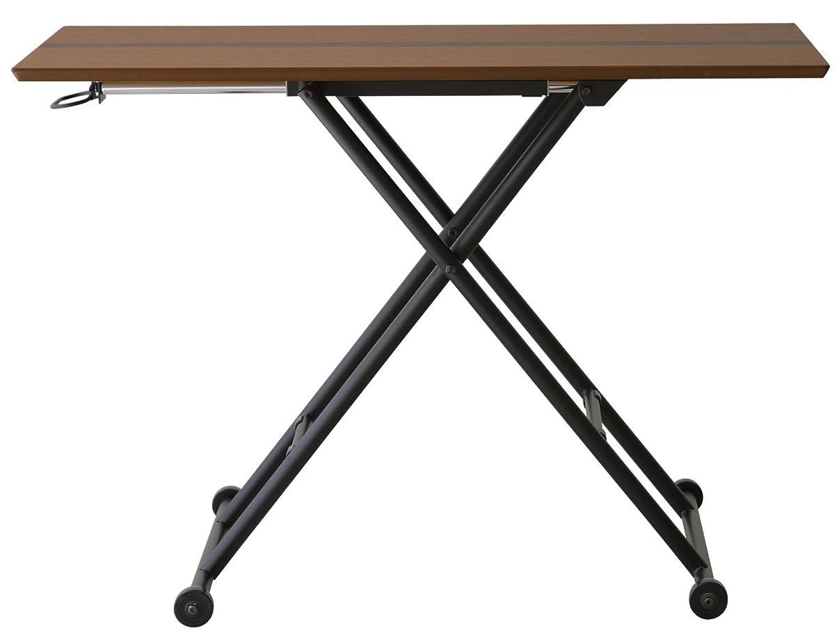 飢饉牧師好きあずま工芸 リフティングテーブル ロジカ 幅65cm ダークブラウン色 RLT-4510