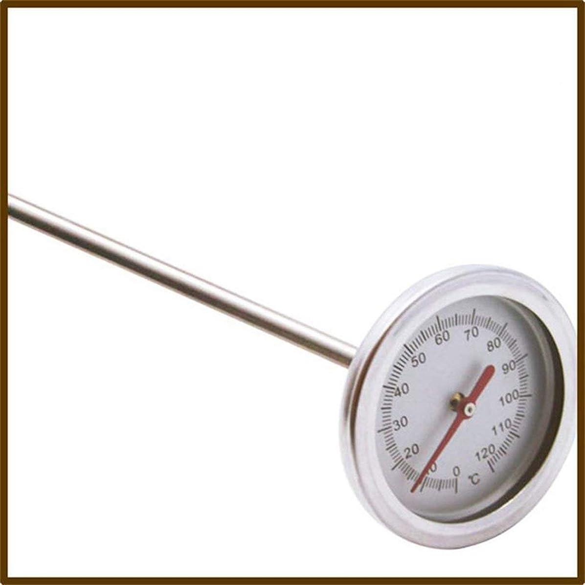 挑発するはっきりしない召集するSaikogoods 20インチ50cmの長さ 0℃-120℃ 堆肥の土壌温度計 プローブ検出器の測定プレミアム食品グレードステンレススチール メタル 銀