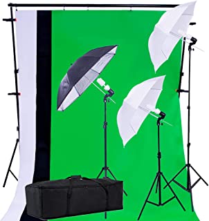 PRO SYSTEM AUDIOTEK Kit Estudio Iluminación Fotográfico Luz Fondos Sombrillas Fotografía Producción Excelente Calidad Resi...