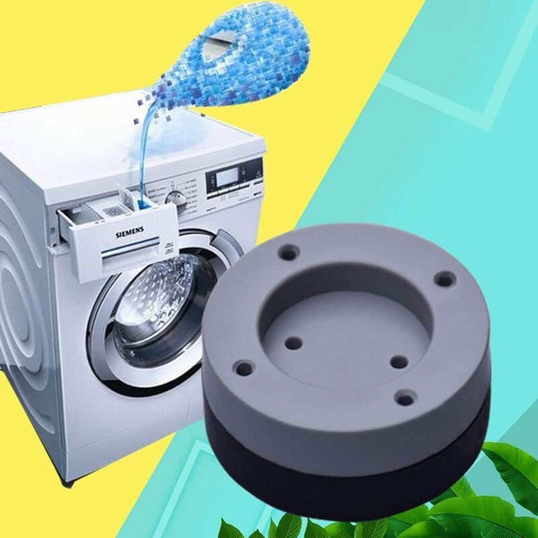 JUNCH 4 St/ück Waschmaschinenf/ü/ße Anti-Rutsch-Matten K/ühlschrank Anti-Vibration-Pad rutschfest und ger/äuschreduzierende K/üche Badezimmer Matte blau