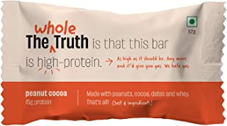 The Whole Truth - Protein Bars - Peanut Cocoa - Pack of 6 (6 x 52g)