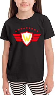 HWDF99DX Club Deportivo Jorge Wilstermann Comfortable and Lovely Short Sleeves for Children for Children Aged 2-6 Black