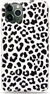 MUNDULEA Black White Leopard Design Glossy TPU Flexible Rubber Phone Cover Compatible with iPhone 11 Case (White Leopard)