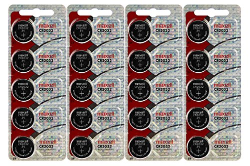 20 Pcs Maxell CR 2032 3v Batteries