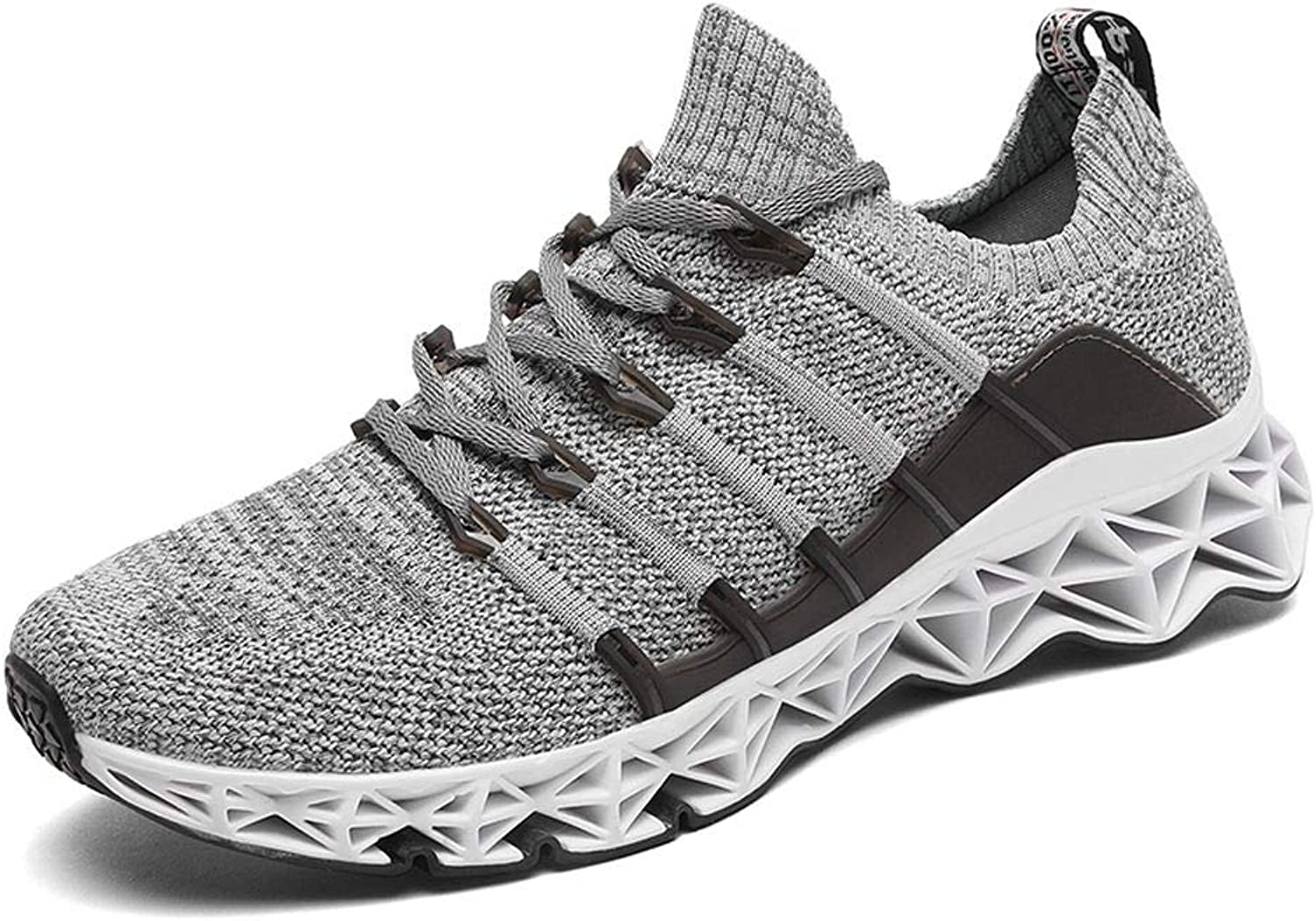 JiYe Mens Running shoes Blade Fashion Breathable Casual Flyknit Sports Sneakers