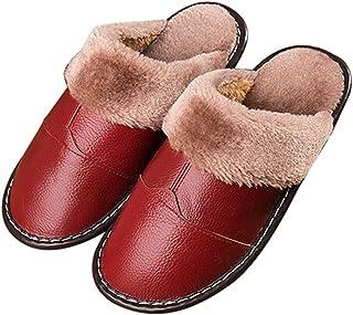 Fansport Indoor Slides Non-Slip Fuzzy Reusable Plush Thick Warm Fashion Home Sandals for Men Women Man Woman Lady Adult