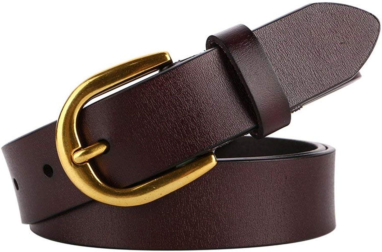 "BGRFEB Women's belt ladies belt Leather belt lady  Twolayer cowhide  1.16""Wide (color   Redbrown)"