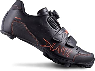 Lake Cycling 2016 Men's MX228 Mountain Cycling Shoes - Black/Orange (Black/Orange - 42)