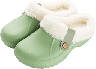 ChayChax Donna Pantofole Invernali Uomo Zoccoli e Sabot Pelliccia Ciabatte da casa Pantofola Impermeabile Scarpe da Giardi...