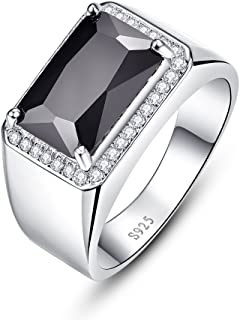 خواتم زفاف للرجال من بونلافي بتصميم قصة مربعة من الفضة الاسترلينية 925 بحجر الاسبنيل 6.8 قيراط خواتم للخطبة والزفاف مقاس 6-11