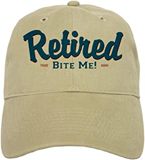 8f812435e4d99 CafePress - Funny Retired Bite Me Retirement Cap - Baseball Cap with  Adjustable Closure