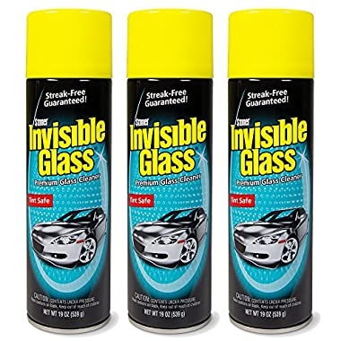 Invisible Glass 91164-3PK Premium Glass Cleaner 19-Ounce Can-Case of 3, 57. Fluid, 3 Pack