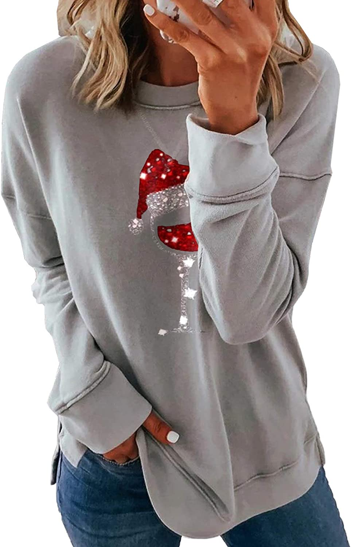 Eytino Women Tie Dye Printed Sweatshirt Casual Long Sleeve Crewneck Striped Loose Pullover Tops Shirts(S-2XL)