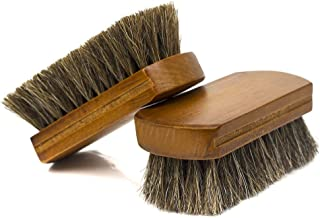 [PTCL] 靴 ブラシ 天然馬毛ブラシ 靴磨きブラシ ケア シューズブラシ 靴のお手入れ