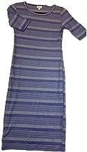 Julia X-Small XS Blue and Grey Stripe Form Fitting Dress fits Sizes 2-4