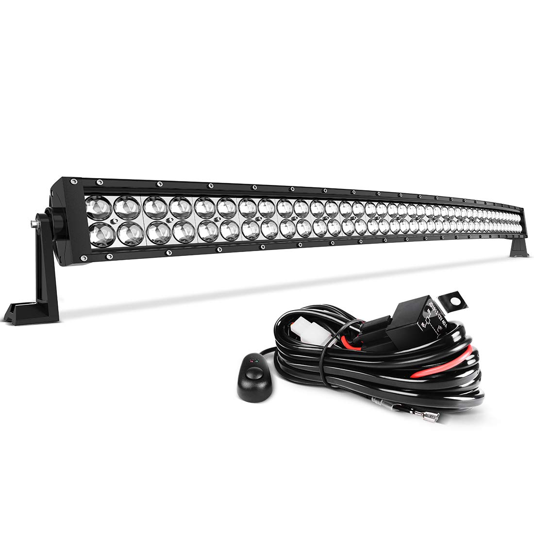 MICTUNING 42 240W 3B339C Curved LED Work Light Bar Combo Off Road Driving Fog Light 24-Month Warranty