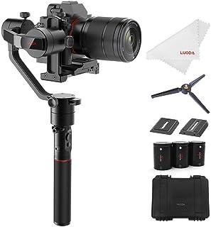 MOZA カメラスタビライザー AirCross ミラーレスカメラ 3軸手持ちジンバル 1800gの搭載重量 自動チューニング 遅延撮影 4操作モード 12時間ランタイム Sony A7SII Pana GH3 GH4 GH5などに対応 【正規...