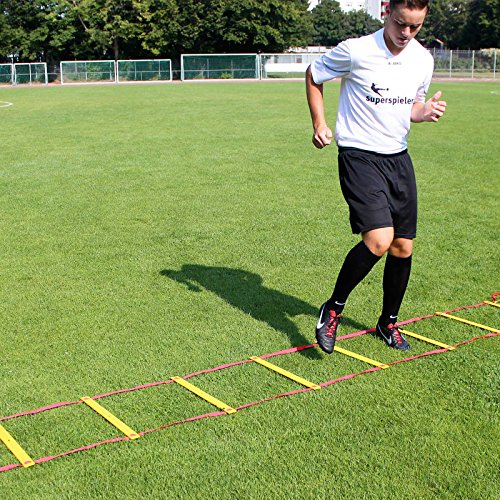 Koordinationsleiter 6 m, mit Tragebeutel, für Teamsportbedarf - Fußballtraining