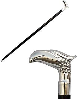 Winterverkoop - SouvNear hout zwart adelaarskop wandelstok met knop handvat - 94,4 cm elegant handgemaakt wandelstokken me...