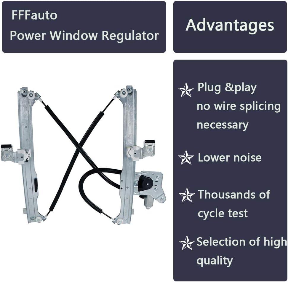 FFFauto 741-578 Rear Left Drvier Side Power Window Regulator with Motor Fits Chevrolet Avalanche//Chevrolet Silverado//Chevrolet Suburban//GMC Sierra//GMC Yukon//Cadillac Escalade EXT,2004-2007