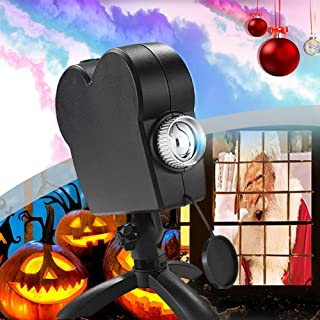 LED 3D Projector Light Christmas Light, Full Color Holographic Projection Halloween Lights with A Tripod, 12 Movie Festiva...