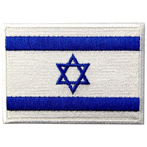Israel Flagge Emblem Israelisch Jüdischer Davidsstern Bestickter Aufnäher zum Aufbügeln/Annähen