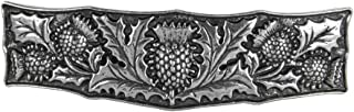 Thistle Hair Clip, Medium Hand Crafted Metal Barrette Made in the USA with a 70mm Imported French Clip by Oberon Design