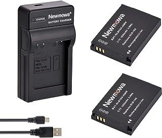 Newmowa SLB-10A 互換バッテリー 2個 + 充電器 対応機種 Samsung SLB-10A JVC BN-VH105 Samsung ES50 ES55 ES60 EX2F HMX-U10 HMX-U20 HZ10W HZ15W...