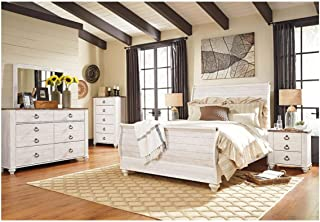 Amazing Buys Willowton Bedroom Set by Ashley Furniture - Includes Queen Bed, Dresser and Mirror