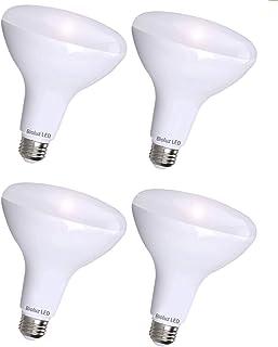 4 Pack Brightest BR40 LED Bulbs by Bioluz LED – INSTANT ON Warm LED Energy Saving