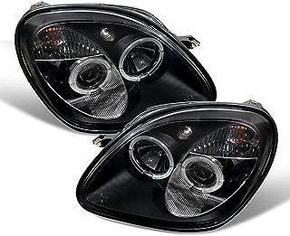 ACANII - For [Halogen Model] 1998-2004 Mercedes Benz R170 SLK230 SLK320 LED Halo Black Projector Headlights Headlamps