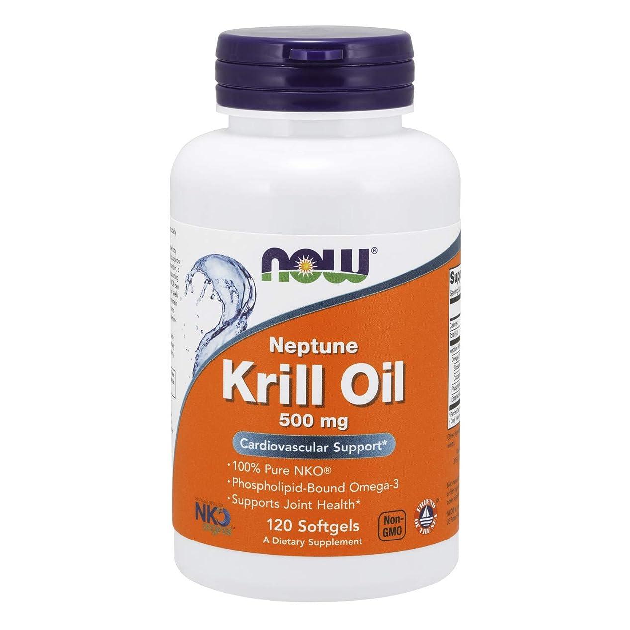 曇った植物学者武器[海外直送品] ナウフーズ  Neptune Krill Oil 120 Softgels 500 mg