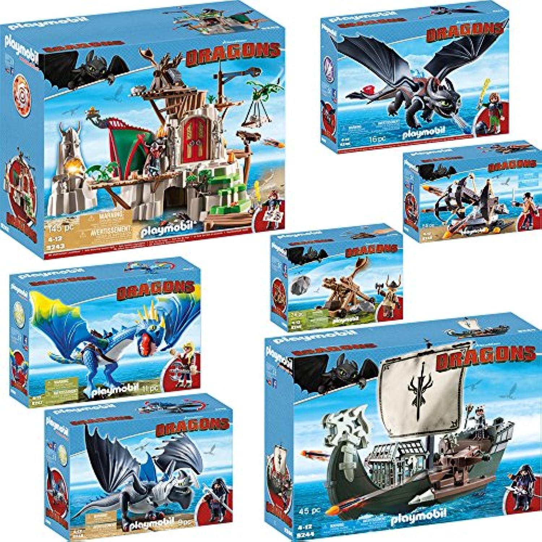 PLAYMOBIL 9243-4-5-6-7-8-9 Dragons Set, 7teilig