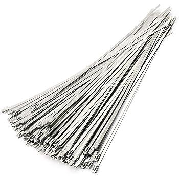 10x Edelstahl Binder Kabelbinder 300 X 4,6 Mm Hitzeschutz Band Metallkabelbinder