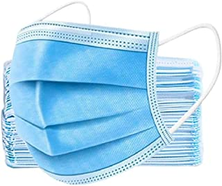 GreatDio® Surgical mask pack of 100 pieces Disposable Masks 3 ply layer with nose clip Meltblown Ultrasonic Use and Throw ...