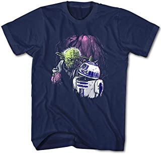 Camiseta Hombre Zombie Joda Vs. R2D2 Star Movie Wars Cine