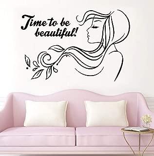 NDSLJSLQT Wall Sticker Beautiful Phrase Beauty Spa Vinyl Wall Decal Hair Salon Woman Art Sticker Mural Wallpaper Girls Bedroom Decals