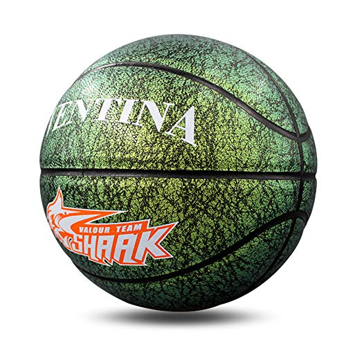 Best Price DIYUN Number 7 PU Leather Basketball, Gradient Colors Basketball for Student Training,Gre...
