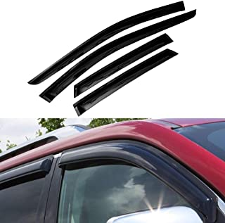 Atomsonic AMS1575 Black N//A Atomsonic Sun//Rain Guard Vent Shade Window Visors Wind Deflector for 2006-2010 Dodge Charger Non-Carb Compliant 4